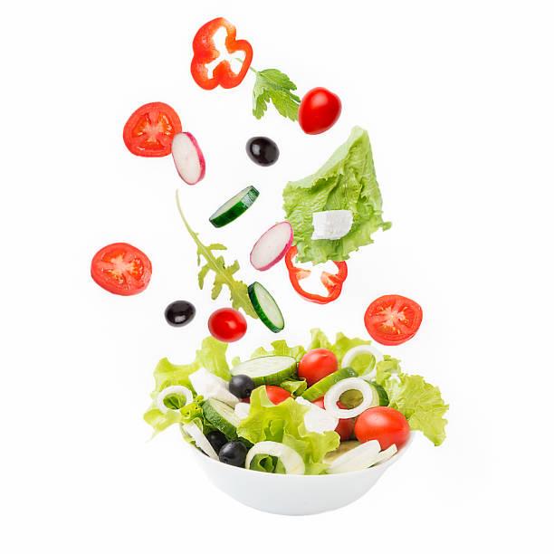 Vegetarian salad. stock photo