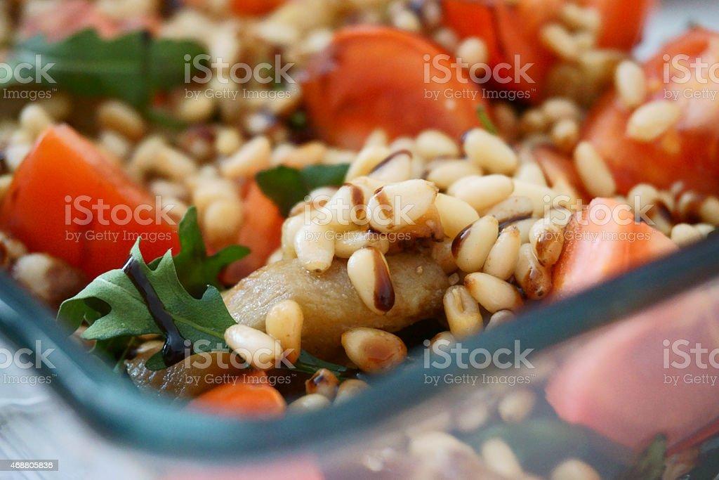 vegetarian salad stock photo