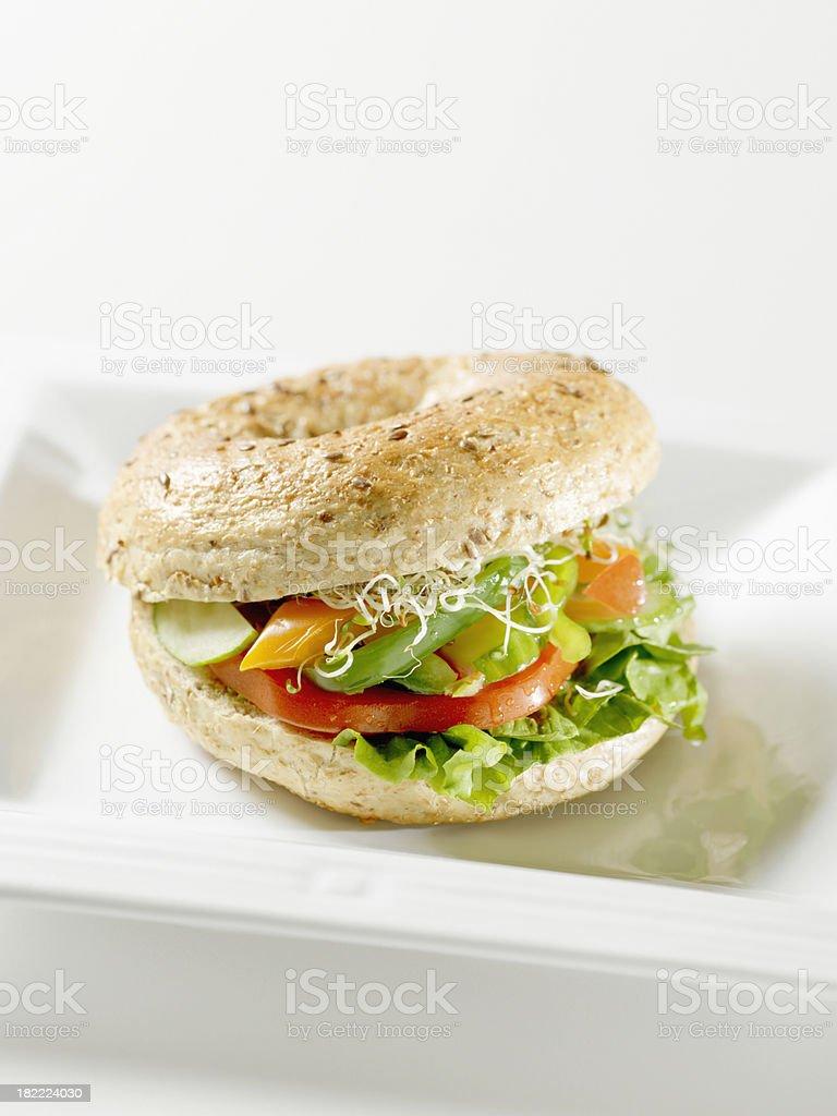 Vegetarische Salat-Sandwich - Lizenzfrei Ansicht von oben Stock-Foto