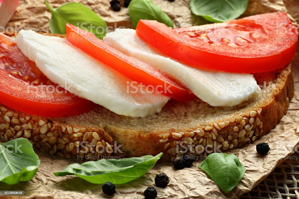 Vegetarian sandwich stock photo