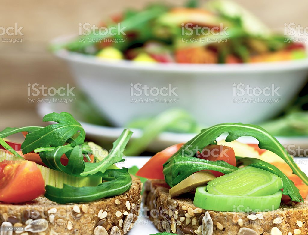 Vegetarian sandwiches stock photo