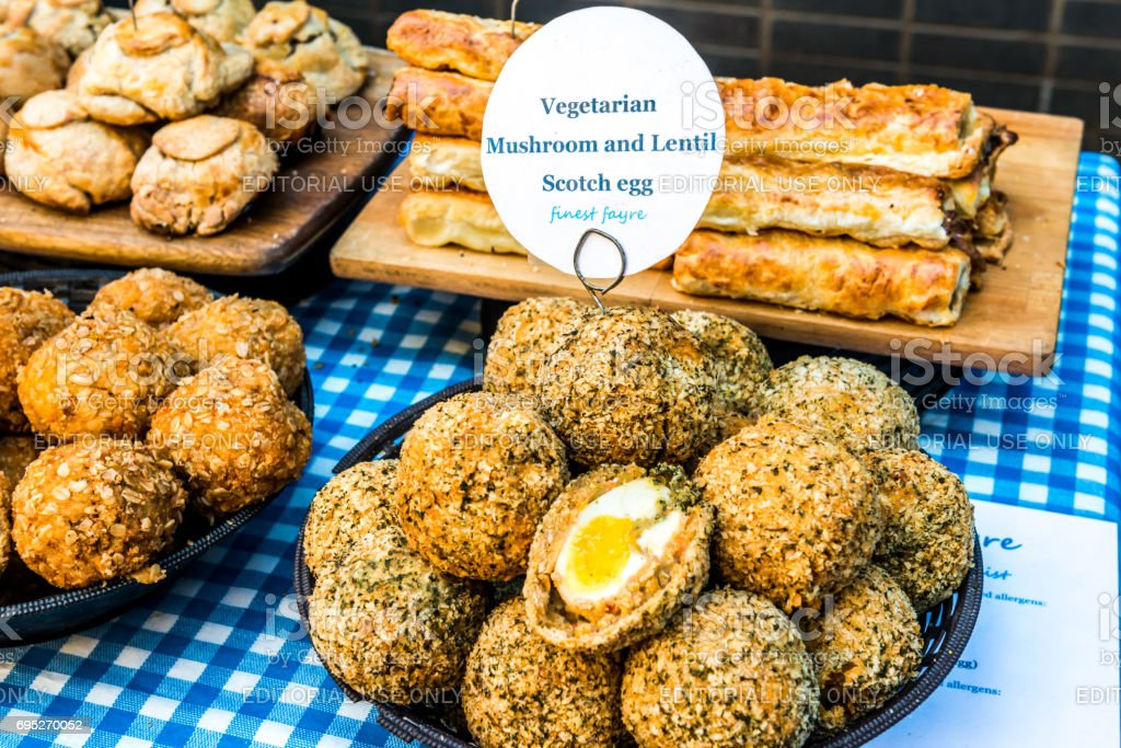 Vegetarian Scotch egg stock photo