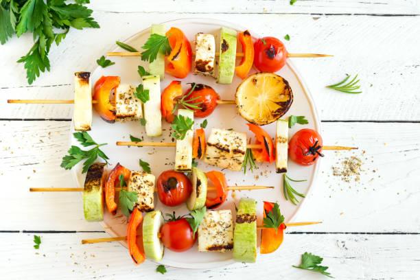 Brochettes de plats végétariens - Photo