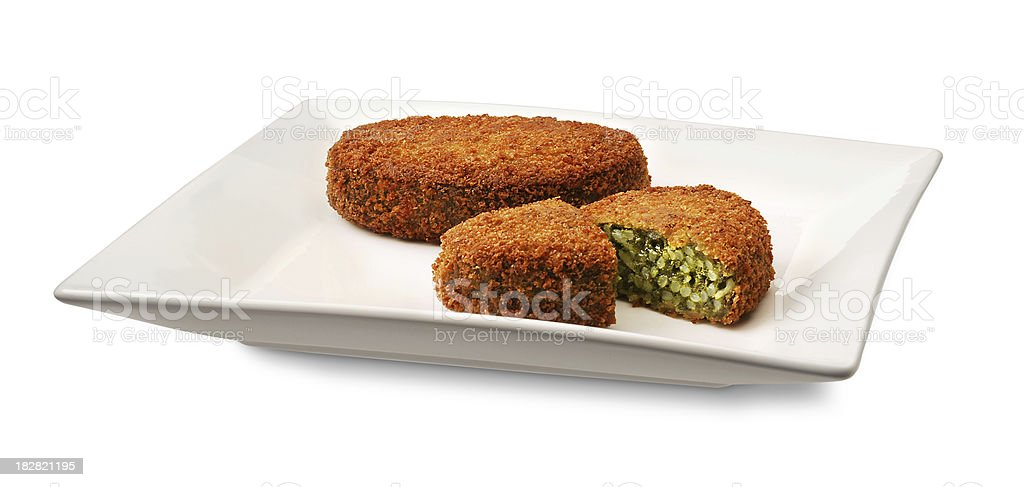 Vegetarian snack on a plate royalty-free stock photo