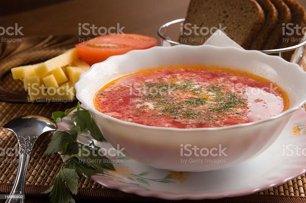 Vegetarian soup stock photo