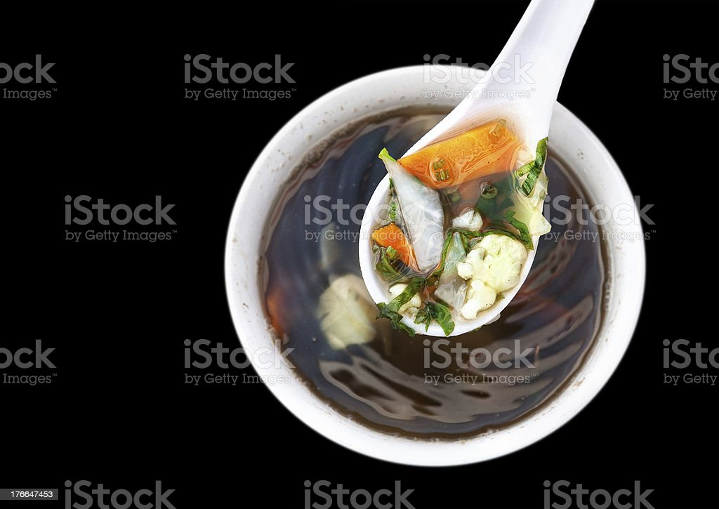Vegetarian soup royalty-free stock photo