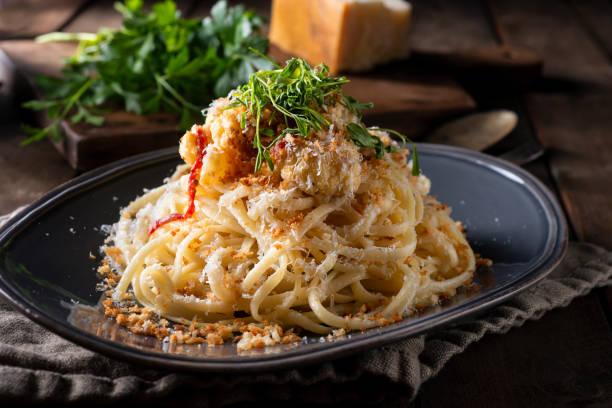 Vegetarian Spaghetti stock photo