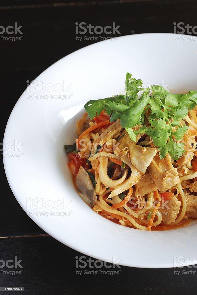 vegetarian spaghetti royalty-free stock photo