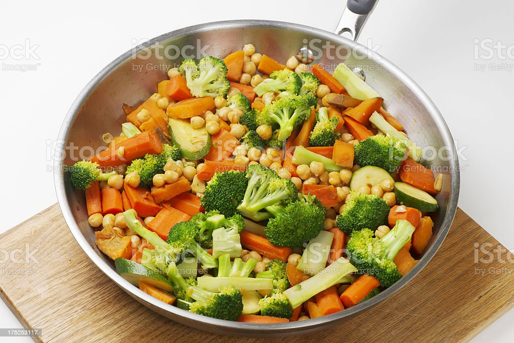 Vegetarian Stir Fry royalty-free stock photo