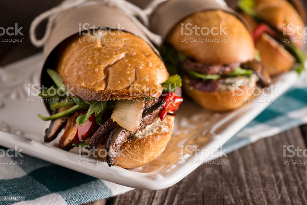 Vegetarian Sub Sandwich stock photo