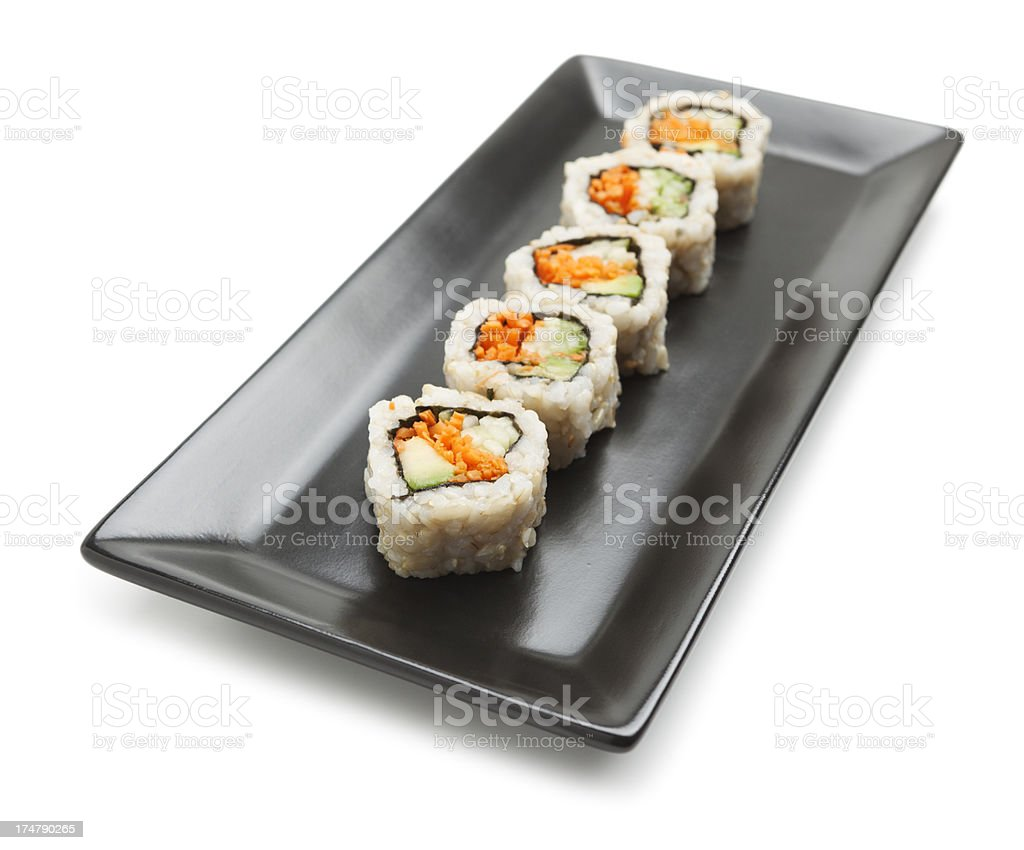Vegetarian sushi royalty-free stock photo