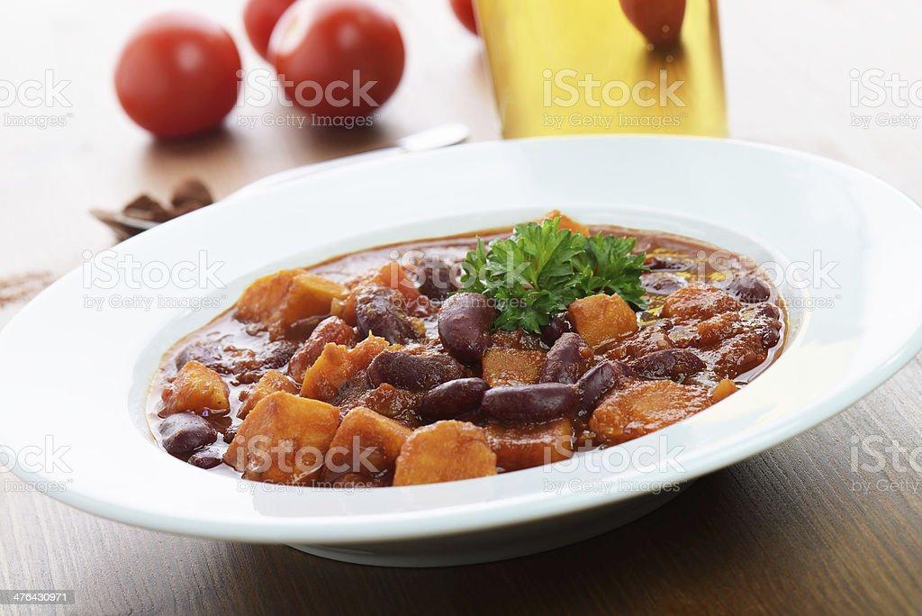 Vegetarian Sweet Potato Chili royalty-free stock photo
