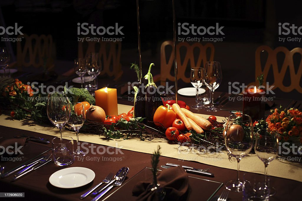 vegetarian table setting royalty-free stock photo
