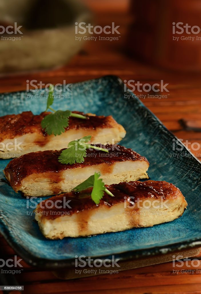 Vegetarian Teriyaki Eel stock photo
