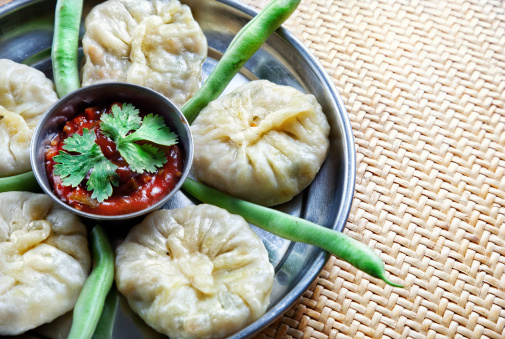 Vegetarian Tibetan Momo With Beans Stock Photo - Download Image Now