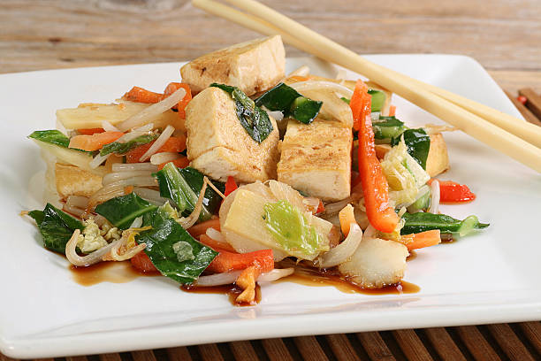 vegetarian tofu stock photo