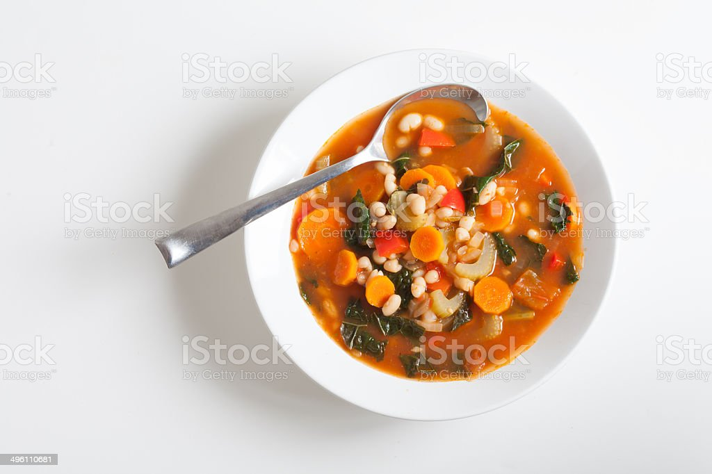 Vegetarian Vegetable Soup stock photo