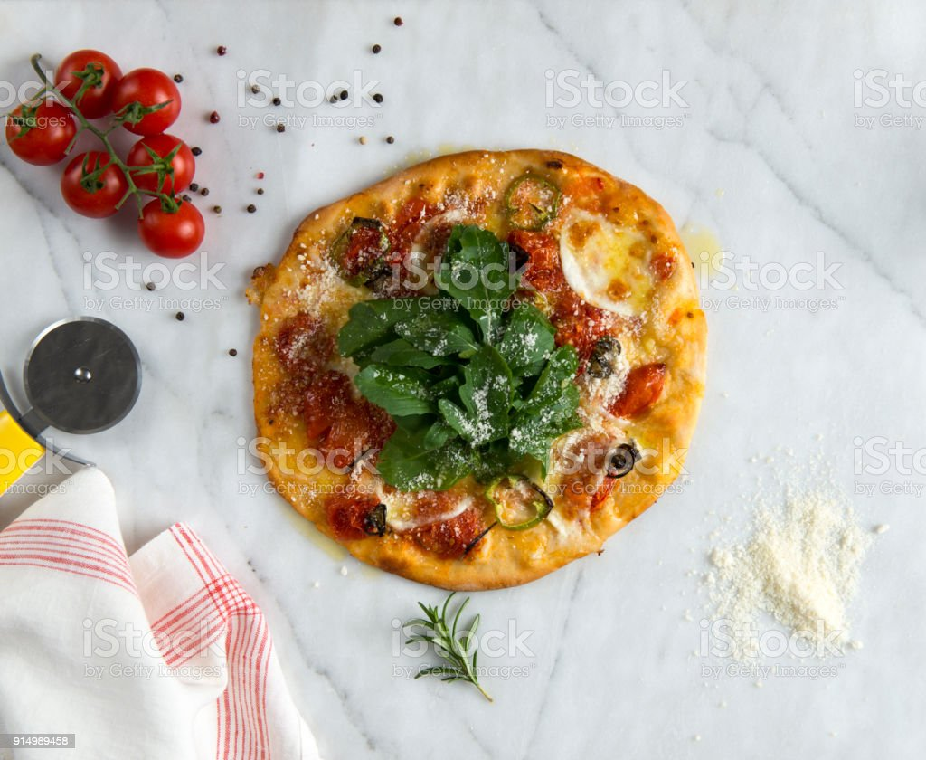Vegeterian Pizza stock photo