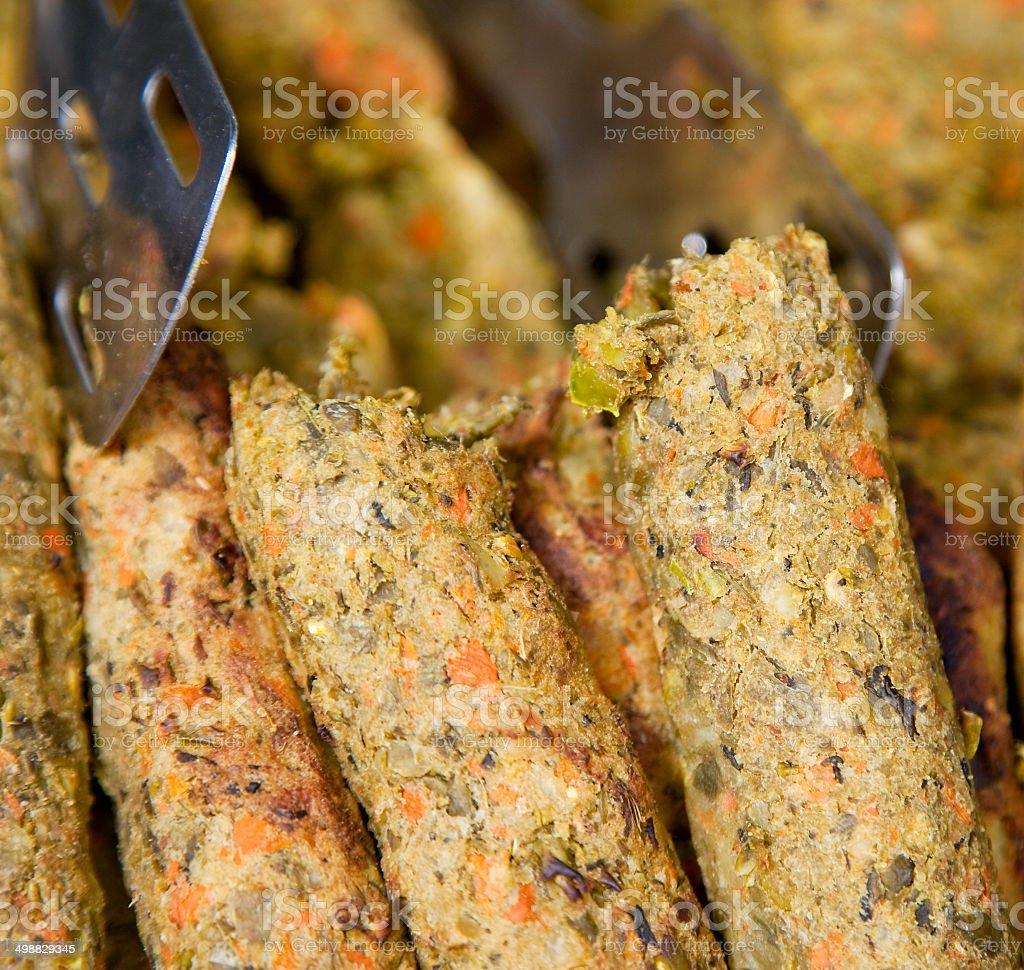 Vegeterian Seekh Kebab stock photo