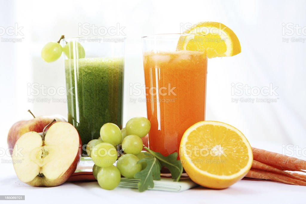 Veggie and fruit juices royalty-free stock photo
