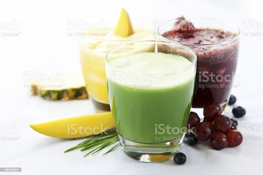 Veggie and fruit juices stock photo