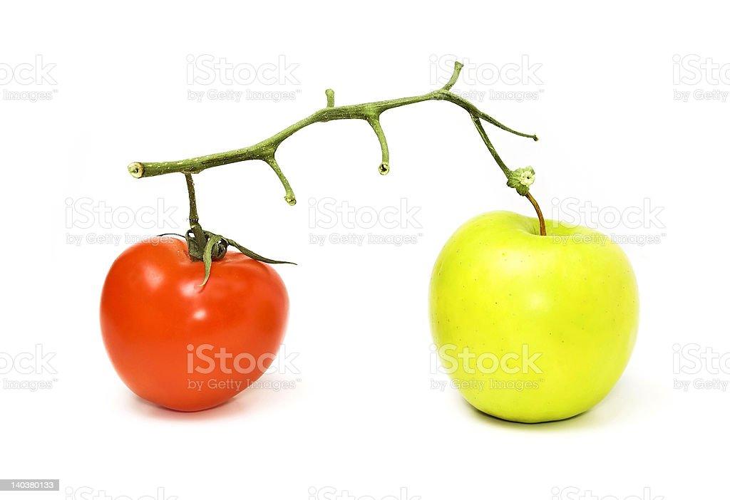 Veggie and fruit royalty-free stock photo
