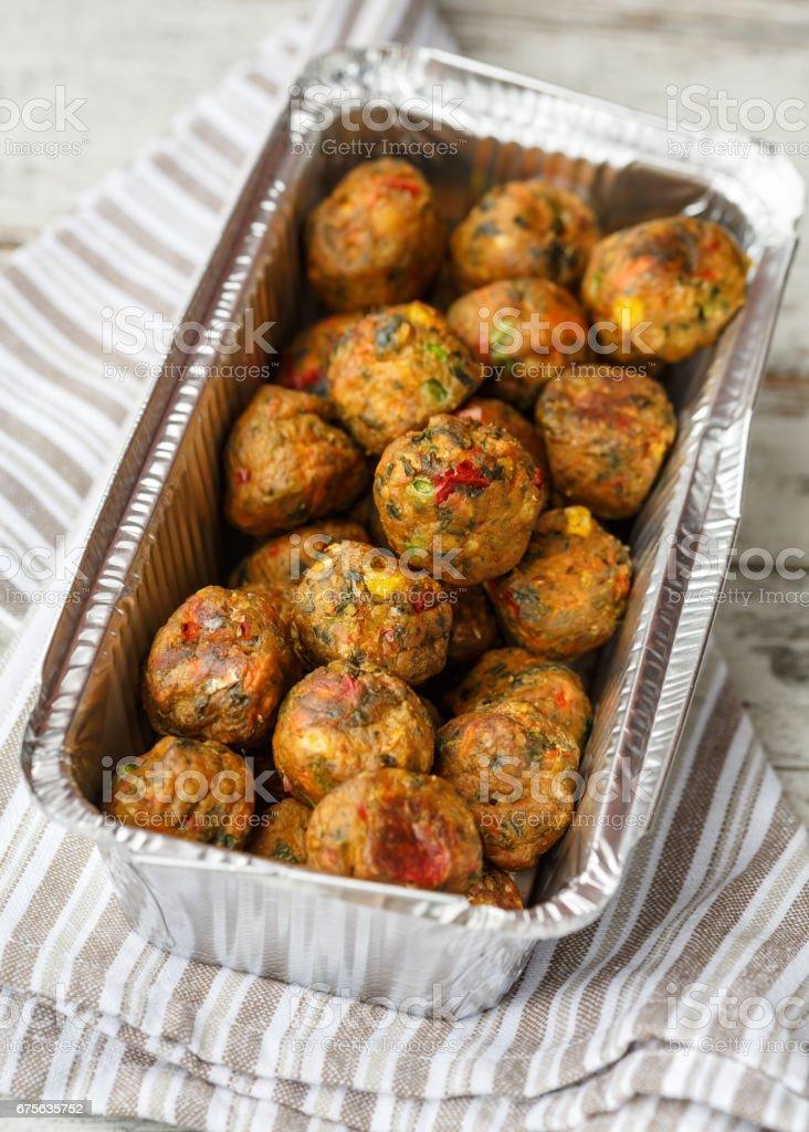 veggie balls stock photo