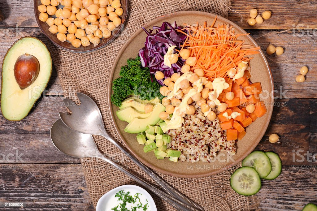 veggie bowl stock photo