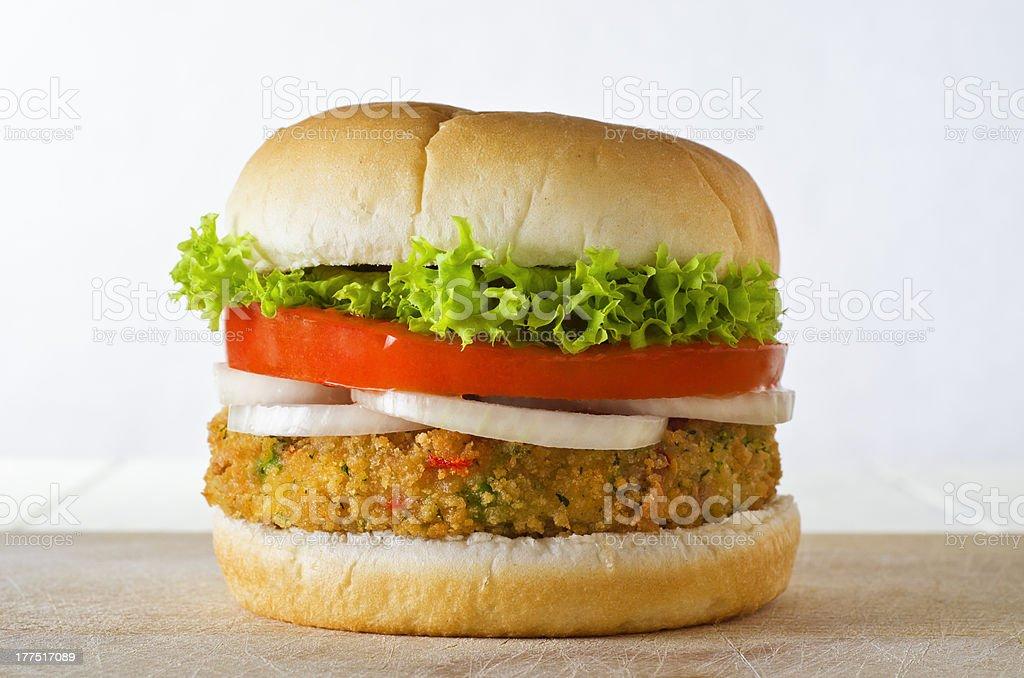Veggie Burger in Bap stock photo