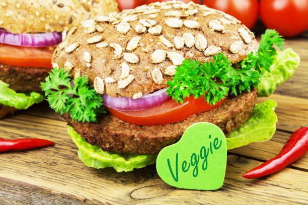 Snack veggie burger au soja - Photo