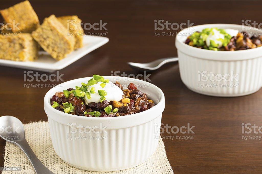 Veggie Chili stock photo