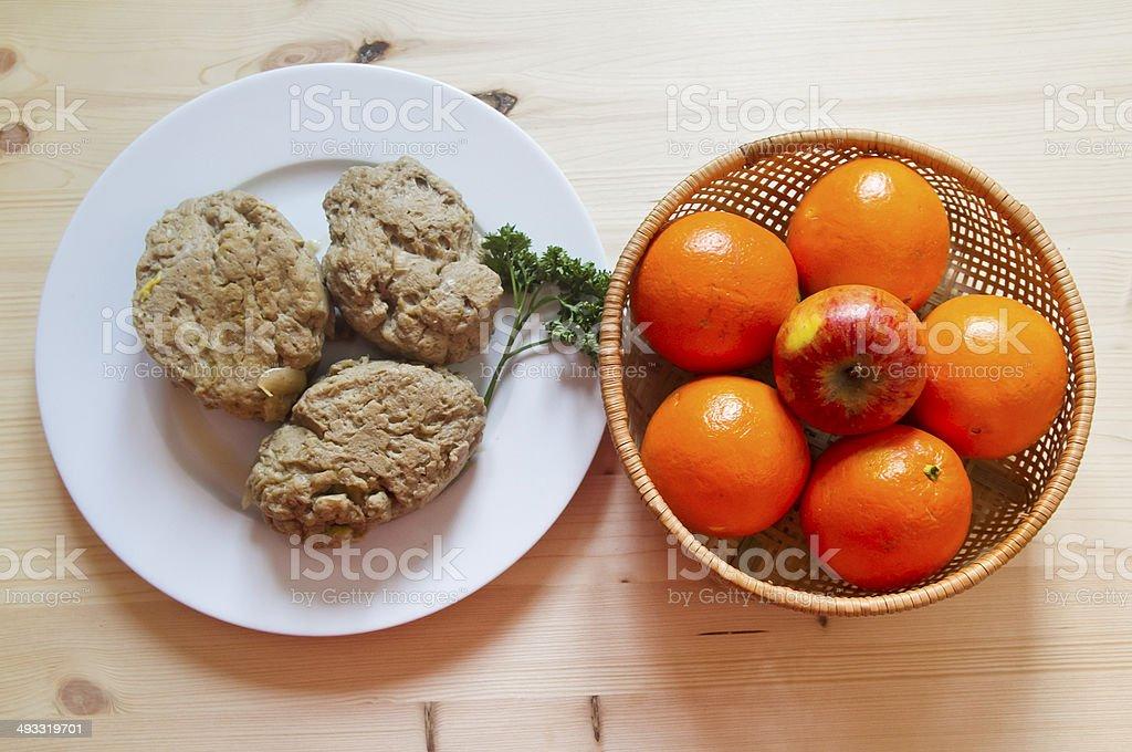 veggie meal stock photo
