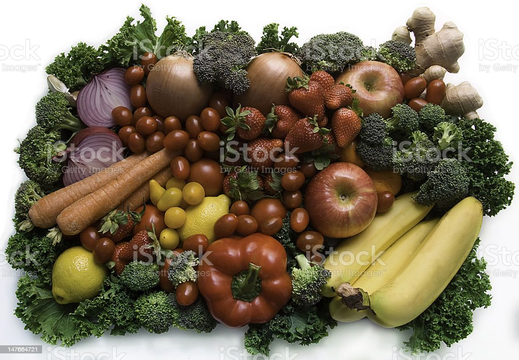 Veggie plate royalty-free stock photo
