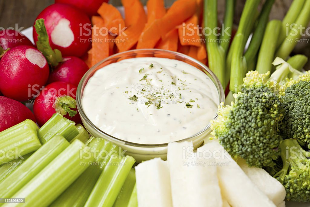 Veggie Plate With Dip stock photo