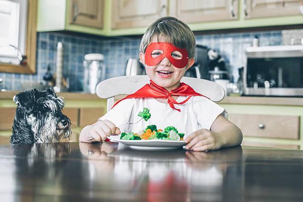 Veggie superheros stock photo