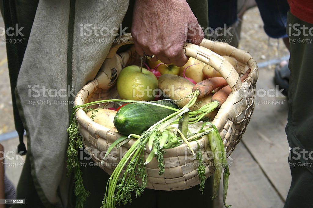 Vegi basket stock photo