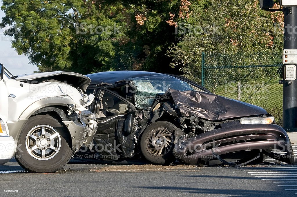 Vehicle accident stock photo