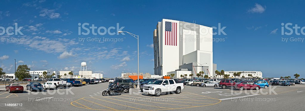 Vehicle Assembley Building Cape Canaveral stock photo