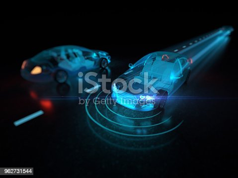 istock Vehicle autonomous driving technology 962731544