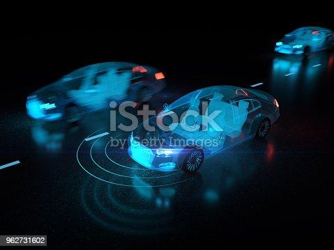 istock Vehicle autonomous driving technology 962731602
