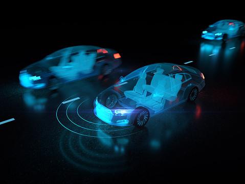 870169952 istock photo Vehicle autonomous driving technology 962731602
