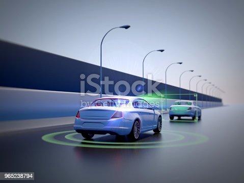 istock Vehicle autonomous driving technology 965238794