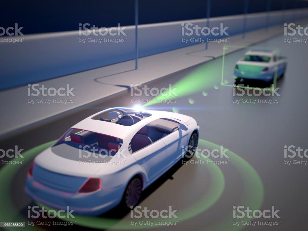 Vehicle autonomous driving technology royalty-free stock photo
