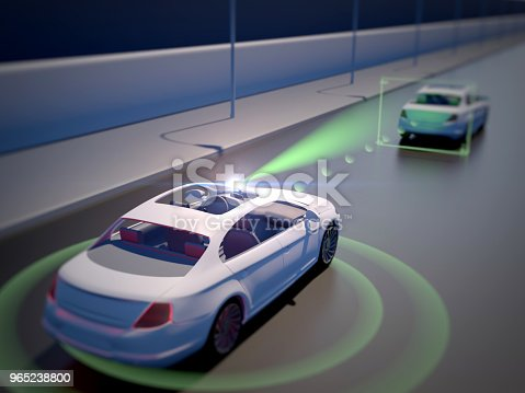 istock Vehicle autonomous driving technology 965238800