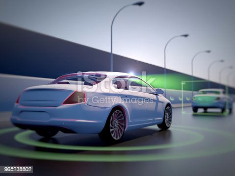 istock Vehicle autonomous driving technology 965238802