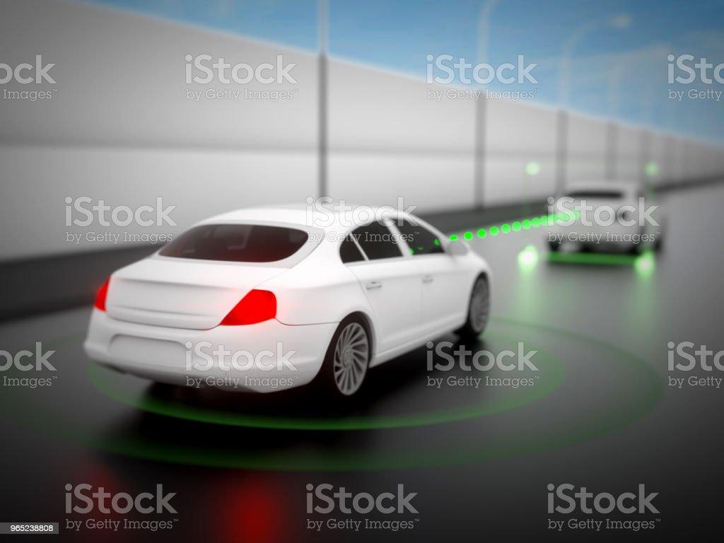 Vehicle autonomous driving technology zbiór zdjęć royalty-free