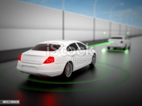 istock Vehicle autonomous driving technology 965238808