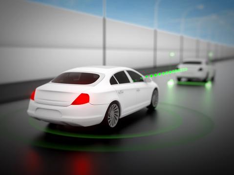 870169952 istock photo Vehicle autonomous driving technology 965238808