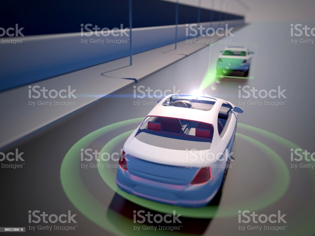 Vehicle autonomous driving technology zbiór zdjęć royalty-free