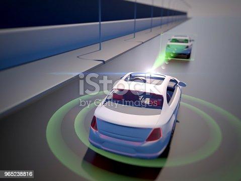 istock Vehicle autonomous driving technology 965238816